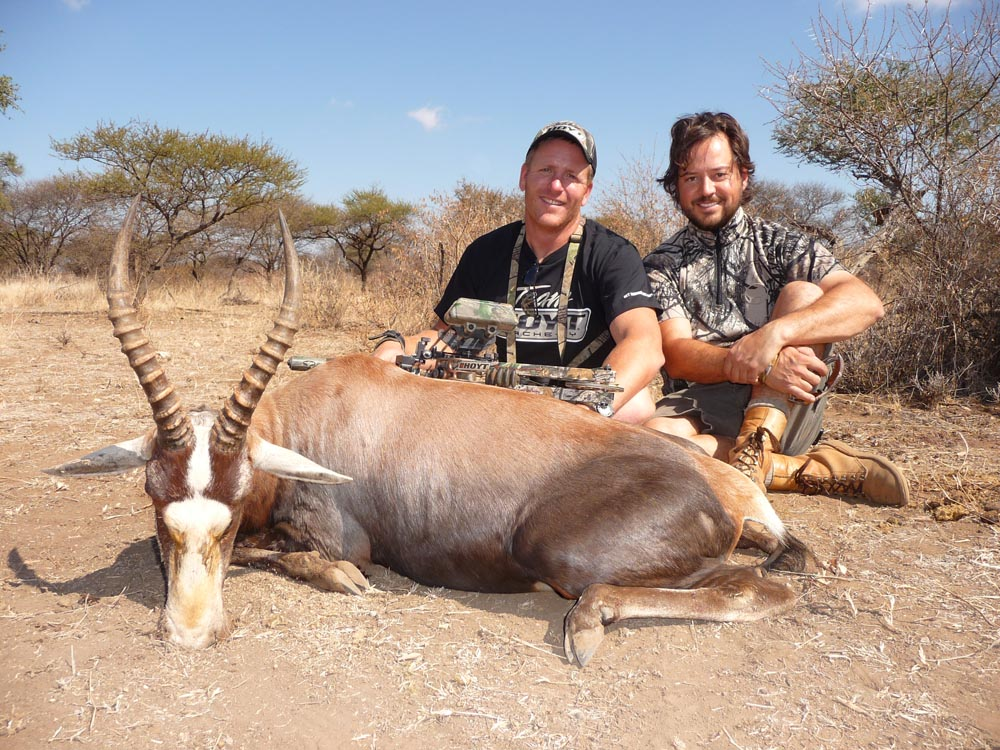 Bow hunting Blesbok in South Africa at Bushmen Safaris