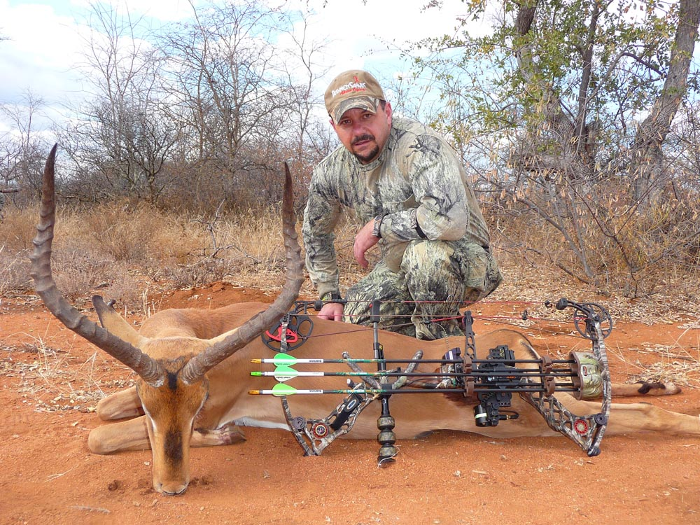 Bow hunting Impala in South Africa at Bushmen Safaris